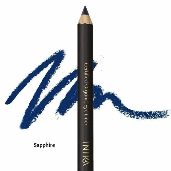 inika certified organic eye liner pencil sapphire