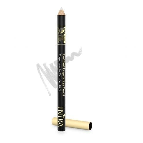 inika certified organic eye liner pencil white crystal