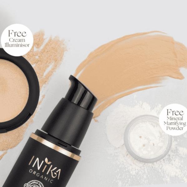 Inika Organic liquid foundation fresh and flawless set