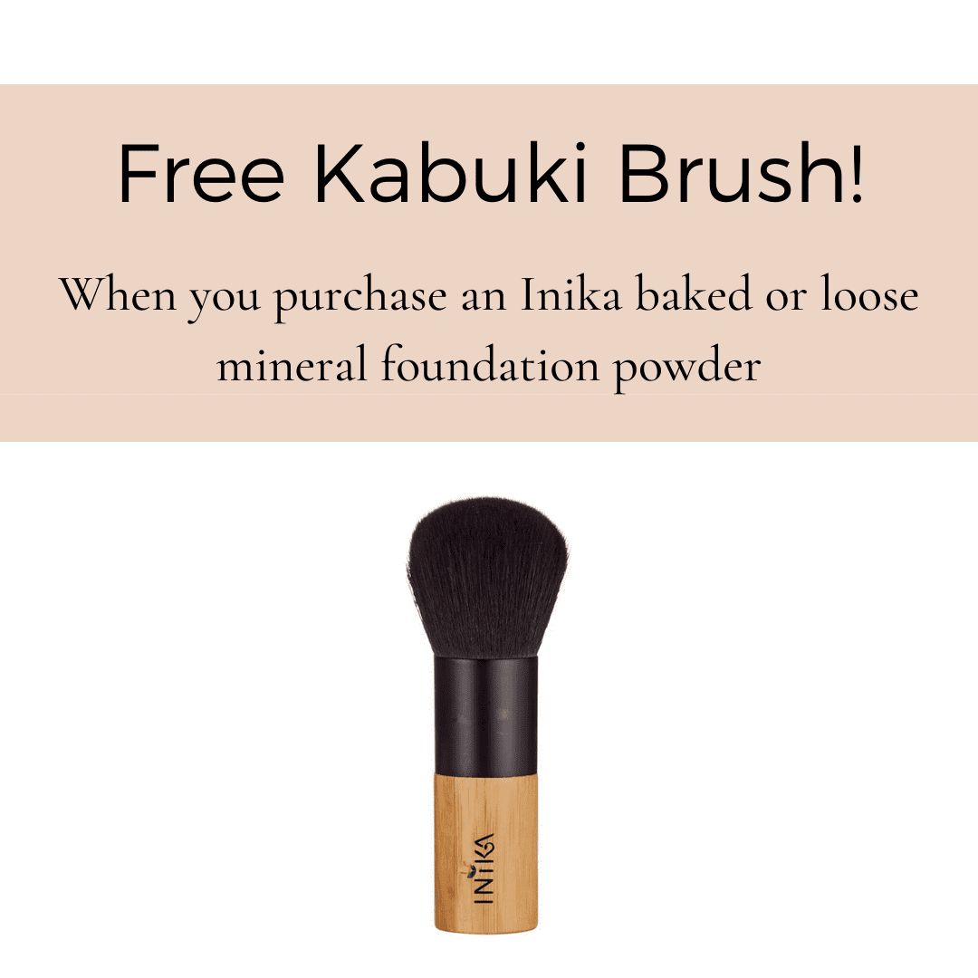 Inika Organic free gift with purchase foundation brush